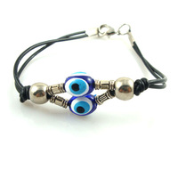 Leather cord preparation of alloy beads Turkey evil eyeball evil eye bracelets bracelets