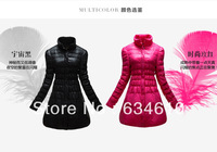 Free shipping Woman's Winter clothes 90% white duck down fashion cotton-padded jacket,Woman Warm long pattern down jacket