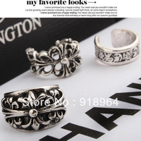 C051 Fashion Vintage Jewelry Punk SuperStar Bigbang GD Chrome Carved Lection Cross Finger Rings (Minimum Order $12,can Mix)