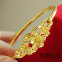Gold bracelet flower bridal jewelry wedding accessories coarse