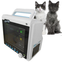 EMS Free Shipping CE Aproved CMS6000 Veterinary Multi 6 Parameter Patient Monitor ECG NIBP SPO2 Temp RESP