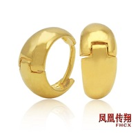 New arrival gold earrings delicate gentle glossy classic earring alluvial gold drop earring the bride married