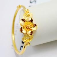 Exquisite huadu gold bracelet 999 fine gold bridal jewelry wedding accessories