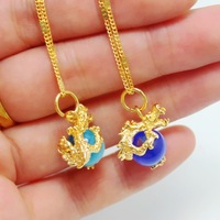 - eye pendant bead transfer gold jewelry