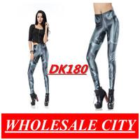WHOLESALE Fashion Women Leggings DOODLE BLACK Printed Leggings Super Elastic Slim Pencil Jeans DK180