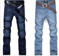 New arrival m trousers men's clothing casual male straight jeans skinny pants light blue
