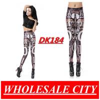 WHOLESALE Fashion Women Leggings Letter Coffee Printed Skinny Jeans Super Elastic  Black Milk Leggings DK184