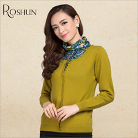 Free shipping New 2013 Heap turtleneck sweater female autumn winter women's female top printing of cashmere sweater