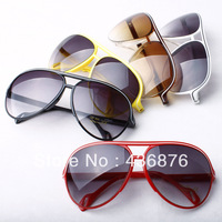 Fashion Casual Men's And Women's  Large Frame Anti-UV Frog Sunglasses,Christmas Holiday Dark Glasses Free Shipping