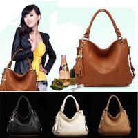 Fancy Women Lady Real Genuine Leather Hobo Tassel Tote Handbag Shoulder Bag
