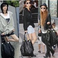 Hot Korean Women Foursquares Faux Leather Handbag Tote Bag Shoulder Bags