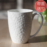 Top High Quality CeramicCup mug cup coffee /water/milk cup for  lovers cup with lid and spoonCup Bone China cup mug Freeshipping