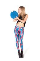 SEXY Fall 2013 Women Lady Pants STAR WARS MONTAGE LEGGINGS Colored Humor Cartoon Girls' Leggings Digital Print Galaxy Black Milk