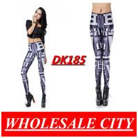 WHOLESALE Women Leggings Letter Black Printed Pencil Pants Galaxy Super Elastic Black Milk leggings DK185