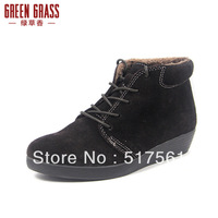 GreenGrass  winter edition wedge model of warm naked boots boots comfortable leisure fashion female boots(PM-015)