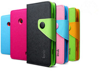 Genuine Brand New IMAK Color-Mix Cross Wallet PU Leather +TPU Case Cover For Nokia Lumia 520
