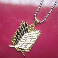 New 17 style Shingeki no Kyojin  Spell Guild Stainless Steel Pendant Necklace Cosplay Prop Gift 10pcs/lot wholesale