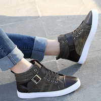 2013 free shipping new fashion  casual shoes sneakers for men medium cut japanese canvas shoes  cotton-made medium cut men's