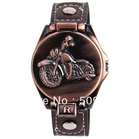 Free shipping  Bolun Men's Watch 12 Numbers Hour Marks with Round Dial Leather Band (Black)