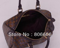 Free Shipping Prefall 2013 Coffee Brown Sequin Handbag N41261 N41262 N41263 Speedy 35 Shoulder Bag
