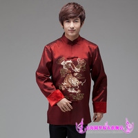 Lansdowne male costume long-sleeve autumn and winter stand collar chinese style embroidery groom tang suit