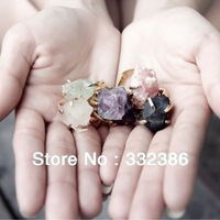 Thailand design 100% handmade fine jewelery 100% natural precious stone 14K gold plated fashion ring birthstone for everyone