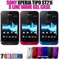 Free shipping wholesale 100pcs/lot New High Quality Soft TPU Gel S line Skin Cover Case for Sony Ericsson Xperia Tipo St21i