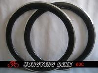 """U-shape""!!!25mm width carbon 60mm clincher rim with Alloy braking surface"
