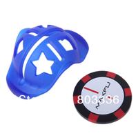 Free Fasr EMS Shipping Blue Golf Ball Line Marker Template w/ Ball Marker 100pcs/Lot