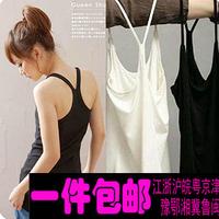 2015 New arrival Y spaghetti strap vest basic vest female summer all-match slim gallus medium-long female tank