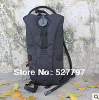 Outdoors Tactical Military Water Hydration Carrier BackPack with Shoulder Strap 2.5 L Bladder Bite Valve Drink Tube Black