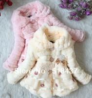 kids winter woolen coat  children thickening outerwear overcoat autumn& winter jacket children's clothing faux plush furry coat