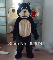 New Hot sale!! Professional New Style Black Bear Mascot Costume Fancy Dress Adult  Bongo Black Bear Mascot Costume Free Shipping