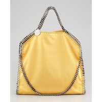 DHL Shipping Medium Size Women Yellow Falabella Shaggy Deer Fold-over 3 Chain Totes handbags