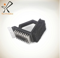 free shipping,BBQ Tools Stainless steel brush Clean Grill with power of steam