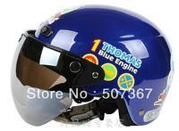 Thomas train 03 bright blue children electric motorcycle helmet