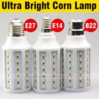 High Brightness7W/10W/15W/18W/20W LED Corn Light E27,B22,E14 LED Bulbs Warm White/Cool white Energy Saving Free shipping