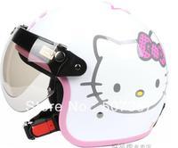 The original authorization Hello Kitty white BanKui electric motorcycle helmet