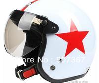 Restoring ancient ways is Ann SKY red star electric motorcycle helmet white BanKui winter helmet