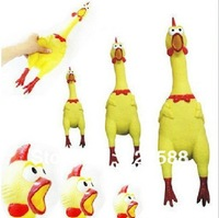2PC HIGH QUALITY PET DOG TOYS SCREAMING CHICKEN   +free shipping