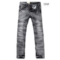 2013 male black jeans male slim dark grey straight denim trousers 3169