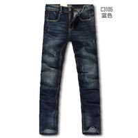 2013 male black jeans slim straight casual denim trousers 3105 blue