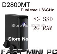MINI PC Intel D2800MT  1.86Ghz dual core CPU mini computer with Win XP system HD full screen videos  2G RAM 8G SSD Promotion