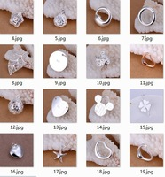 Free Shipping, Mix Style 925 Sterling Silver Metal Charms Pendants,Fashion Jewelry Necklace Pendants, Heart Star Pendant Woman