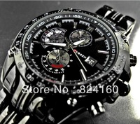 Free shipping Fashion  men quartz watches and men full steel watch+new 2013 watches men luxury brand + stainless steel watch