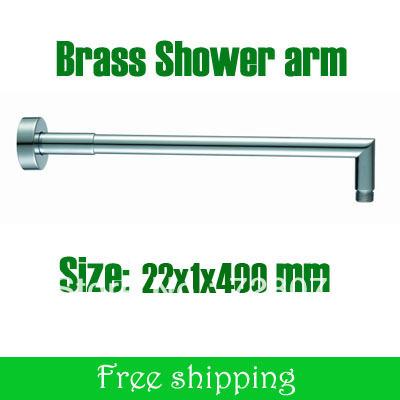 "Free Shipping G1/2"" 40cm Length Polished Chromed Copper Bathroom Bathtub Tub Shower Arm Pipe &Flange(China (Mainland))"