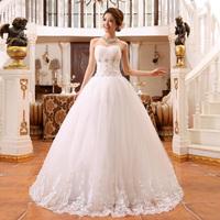 Wedding Dress 2014 Hot Sell Bride Plus Size White Lace Bandage Wedding Dress Strapless Embroidered Floor Wedding Dresses Custom