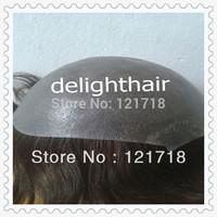 "Free shipping!  6"", 9""X7"" base size 2# drak brown  Indian  human hair all PU toupee for men free shipping"