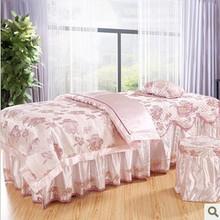 2014 limited hot sale comforter set roupa de cama duvet cover free shipping massage bedspread bed piece set beauty skirt sets(China (Mainland))