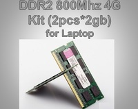 Brand New memoria ram SODIMM Memory Ram DDR2 4G Kit (2x 2GB) 800Mhz PC2 6400 For Notebook Laptop Free Shipping